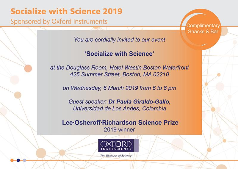 Invitation for 2019 'Socialize with Science'